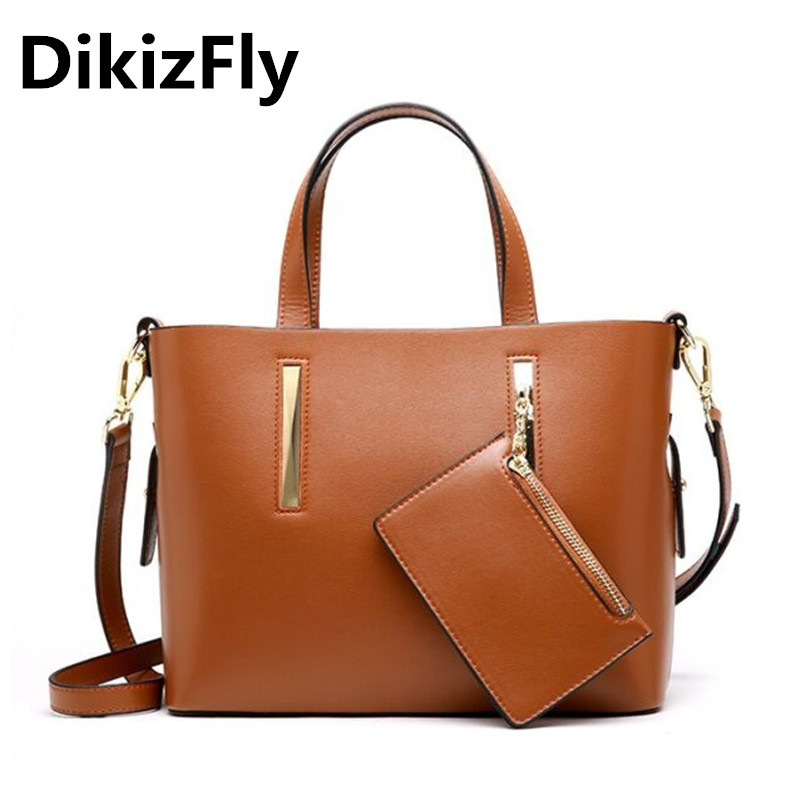 DikizFly Brand New European and American Style women bags Solid Zipper handbags High Quality Split Leather Crossbody bags bolsa dikizfly new european and american style backpacks women high quality genuine leather backpack travel bags fashion mochila