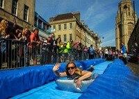 300M Long City Slide Inflatable Slip N Slide Big Water Slides For Sale Giant Inflatable Water