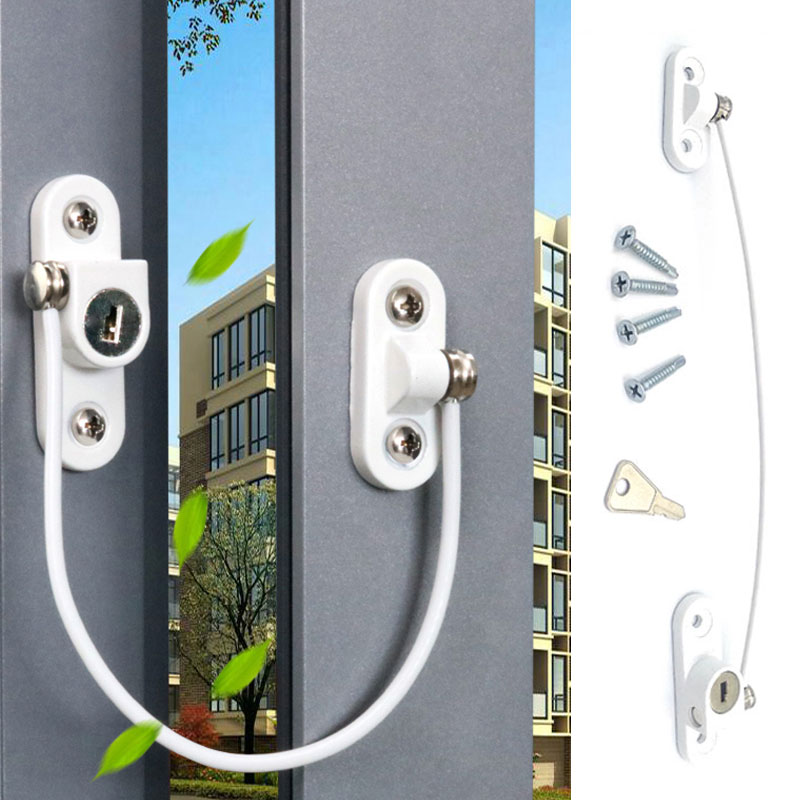 New 1Pcs Prevent Children Falling Window Limiter Child Protection Baby Safety Window Protection Security Locks On The Windows