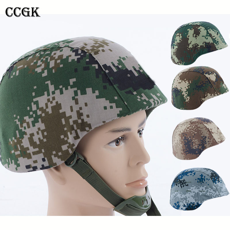 CCGK Tactical Helmet With Camouflage Cover Military Style Lightweight Plastic Safety Helmets For Airsoft CS Cosplay Film Props fire maple sw28888 outdoor tactical motorcycling wild game abs helmet khaki