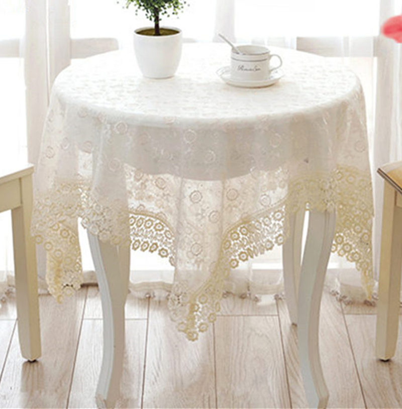 Hot Fashion Elegant Embroidery Lace Tablecloth For Wedding