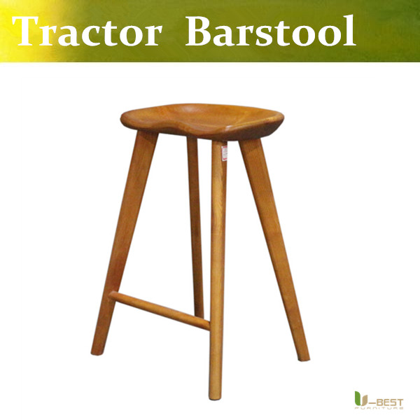 Free shipping U-BEST industrial stool tractor stool used counter stools,Carved from solid wood and hand finished,Counter Height used tractor parts