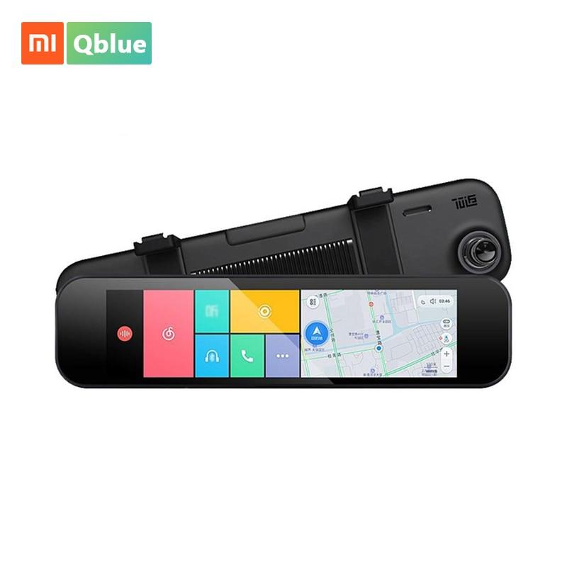 Xiaomi 70 минут заднего вида автомобиля Камера регистратор Wi-Fi Bluetooth ADAS Smart Зеркало заднего вида 160 градусов g-сенсор gps F1.8 автомобиля Cam