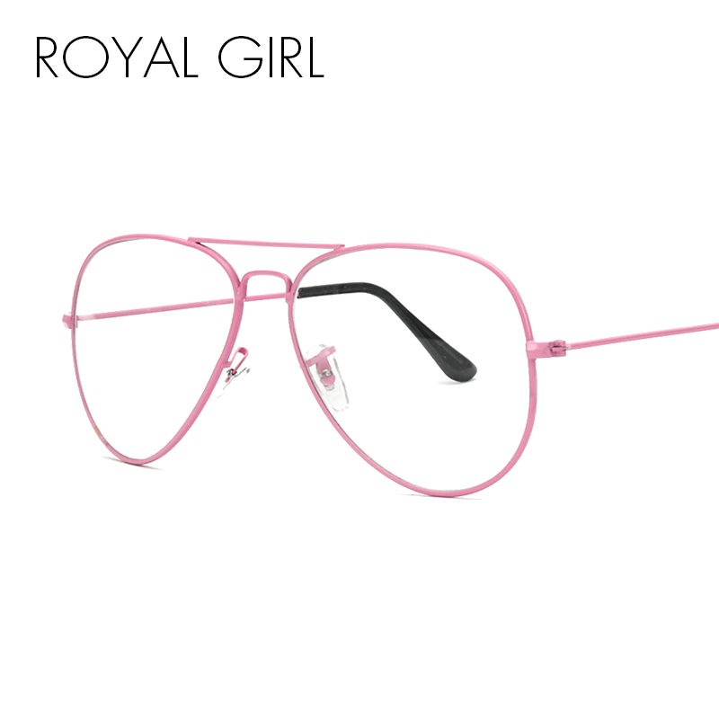 b3c36d0254b ROYAL GIRL Classic Women Glasses Sun frame Men pilot Clear Lens Eyeglasses  3025 costa Sunglasses ss659