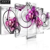 סחלב סגול רקמת יהלום מקדח מרובע מלא ZOOYA 5D DIY יהלומי תפר צלב ציור רב תמונת קישוט הבית