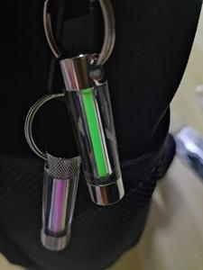 Image 4 - Llavero con herramientas de lámpara de Gas tritio, anillo de luz para llave automático, luces de emergencia para Seguridad al aire libre y supervivencia