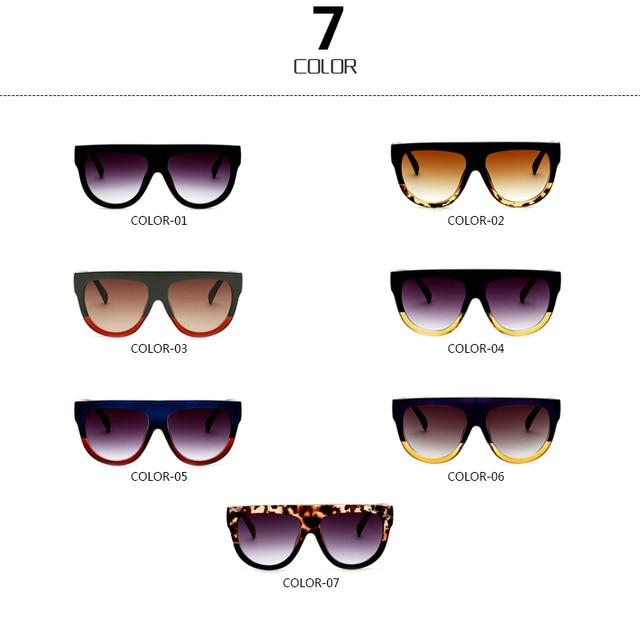 d3c4aea4ec RSSELDN Flat Top Oversized Square Sunglasses Women Gradient 2018 ...
