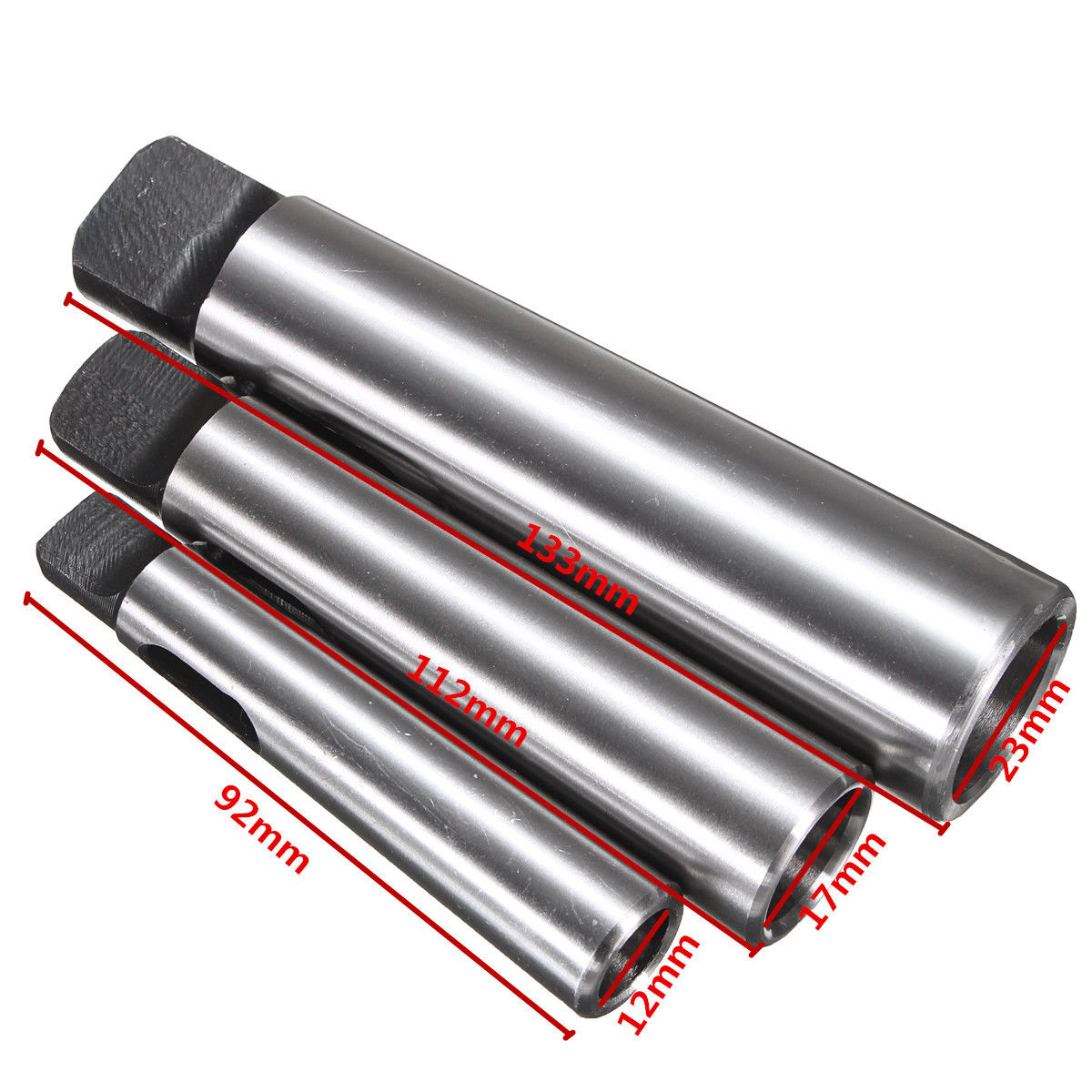 3pcs Mayitr Morse Taper Adapter MT1 to MT2 MT2 to MT3 MT3 to MT4 Reducing Drill Chuck Sleeve For Drilling Machine