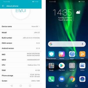 Image 4 - Honor 8X smartphone mobile phone 6.5 full Screen OTA update Smartphone Mobile phone Android 8.1 Octa Core fingerprint ID
