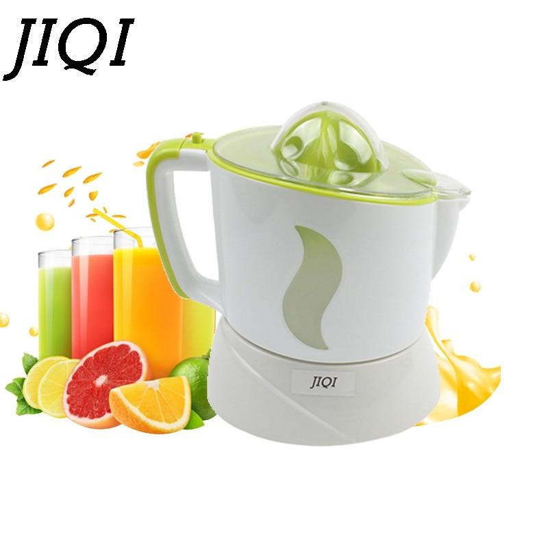 JIQI Automatic Electric Fruit Squeezer Citrus Juicer Mini Juice Maker Lemon Citrus Orange Slow Separator Press Machine Blender 2018 new large mouth slow speed juice maker household juicer 68rpm fruit squeezer md 60 blender mixer