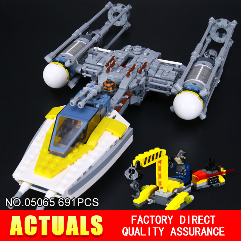 ФОТО New Lepin 05065 691Pcs Star War Series The Y-wing Starfighter Building Blocks Bricks Educational Toys 75172 for gifts