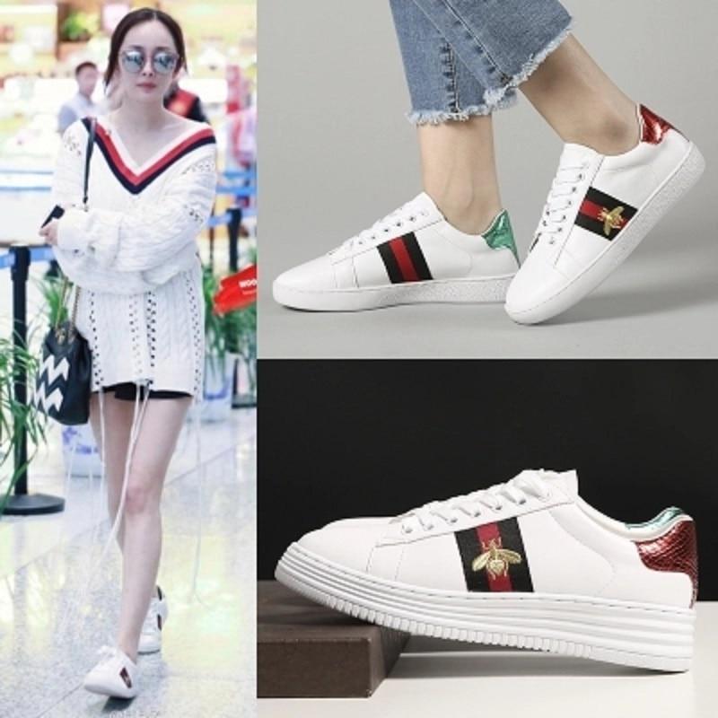 1 Chaussures Femelle Casual Femme Plat Blanc Automne Sauvage 2018 2 Ressort Fond Nouveau Mode À CTqOFcwH