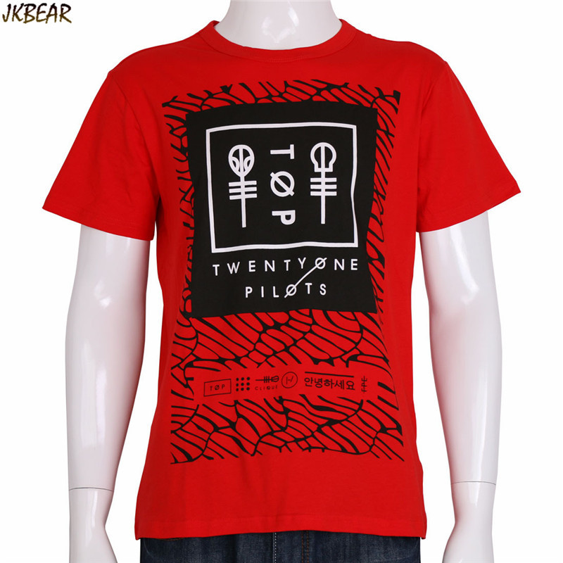b24070ed8 Rock Band Twenty One Pilots Short Sleeve Cotton T Shirts for Men and ...
