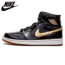 the best attitude 17302 7301a Nike aire Jordan1 alta Retro OG Joe 1 oro negro de charol de los hombres de  baloncesto zapatos zapatillas de deporte al aire lib.