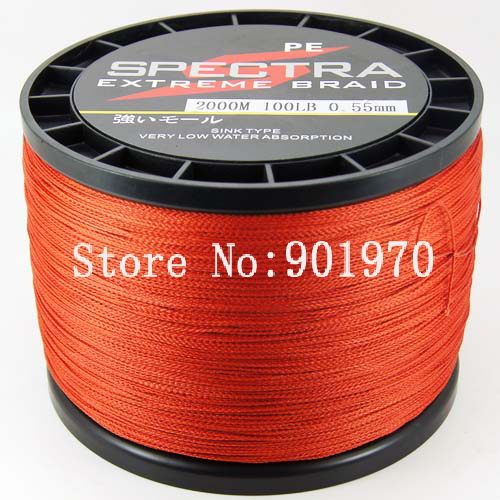 Free Shipping Promotion Price 2000m 100lb Braided