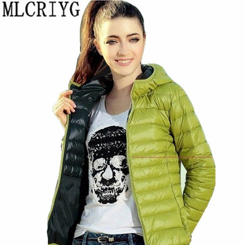 Autumn Winter Jacket Women New Ultra Light Cotton Wadded Coat Hooded Short Parkas Mujer 2019 Plus Size 5XL casaco feminino YQ187