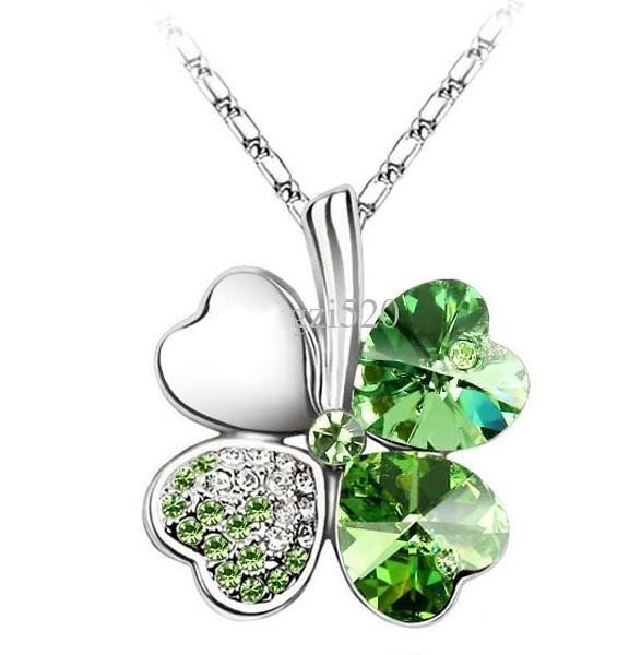 Crystal Clover Leaf Necklaces Pendants Free Shopping Mix All Of Style