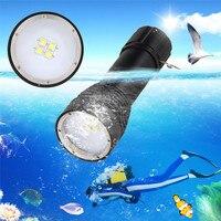 High Quality 8000LM 4x XML L2 LED Underwater 100M Scuba Diving Flashlight Torch 26650 Lamp