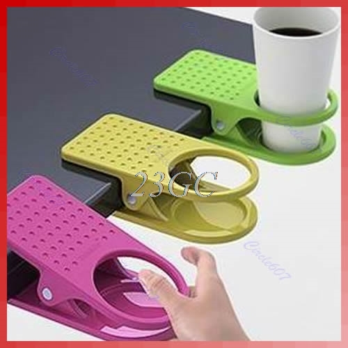 Fashion Cup Coffee Drink Holder Clip Use Home Office Desk Table O24