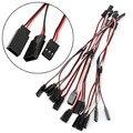 10 unids 150mm estilo y cuerda del plomo del cable de alambre para futaba jr rc servo extension 15 cm nueva