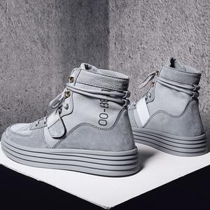 Image 5 - Aelfrec Eden/ботинки на плоской платформе с эластичным ремешком на шнурках для мужчин, модные мотоциклетные кроссовки, AE27, 2019