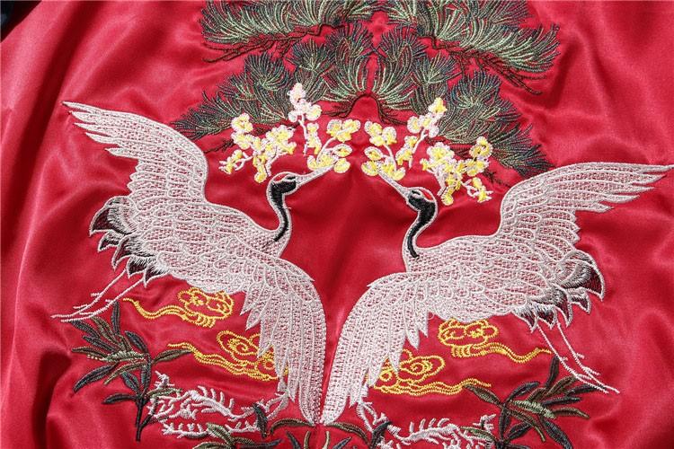 Aolamegs Japan Yokosuka Embroidery Jacket Men Women Fashion Vintage Baseball Uniform Both Sides Wear Kanye West Bomber Jackets (8)