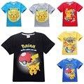 Niños camisa niños pokemon pokemon ir camiseta para niñas tops y blusas ropa del muchacho tee camiseta de la historieta ropa traje camiseta