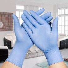 2 ШТ. Ultra Thin Бытовая Уборка нитриловые перчатки Медицинские Одноразовые Татуировки Механик Лаборатории ремонт Порошок Бесплатно латекс