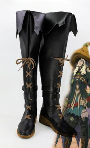 Final Fantasy XIV BLACK MAGE Cosplay Boots Shoes Costume Accessories Halloween Party Boots for Adult Women Shoes