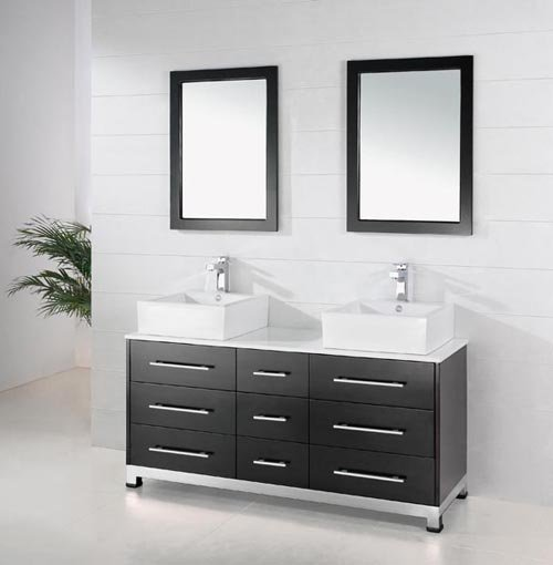 2017 Bathroom Furniture Wholesale New Style Wooden Bathroom Vanity Solid Wooden Bathroom