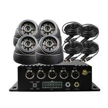 4CH SD 256G GPS G-sensor Track Car Vehicle DVR Video Recorder Kit IR CCTV SONY CCD Dome Camera For Truck Van Bus Free Shipping