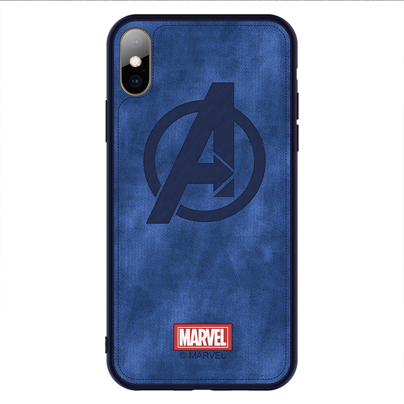 Original marke Telefon fall Für iphone X XS XR XS MAX Captain Marvel The Avengers Tuch Hohe Qualität Zurück Abdeckung eisen Mann funda