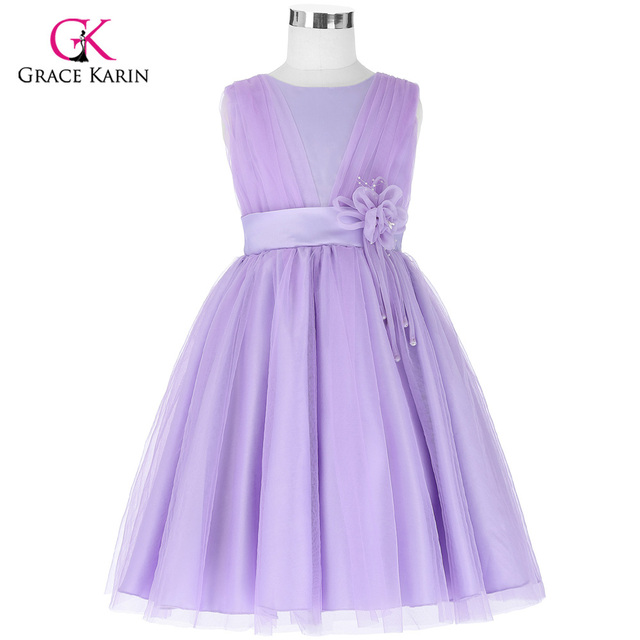 Tulle Ball Gown Long Flower Girl Dresses For Wedding Pageant Prom