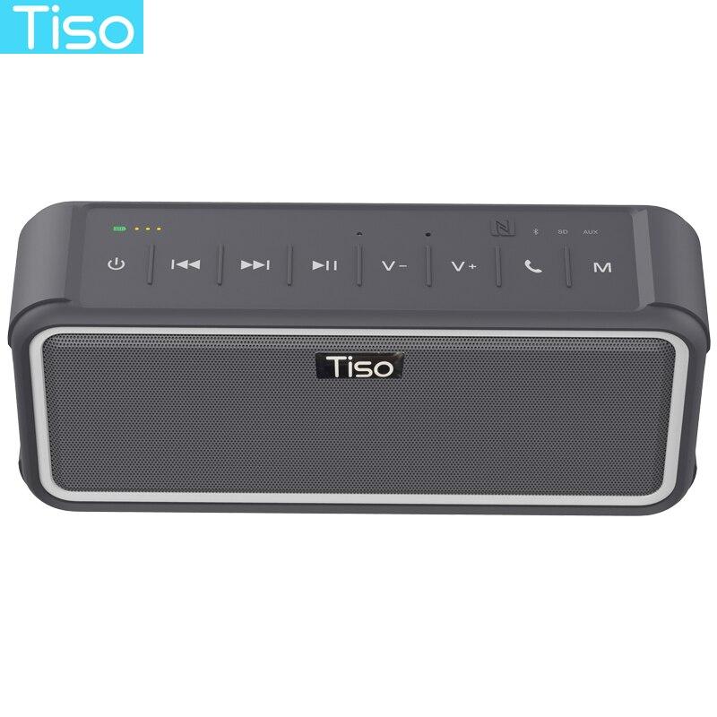 все цены на Tiso IPX7 waterproof Bluetooth speaker 2.1 channels 20W super 3D stereo bass NFC wireless loudspeaker outdoor sports portable онлайн
