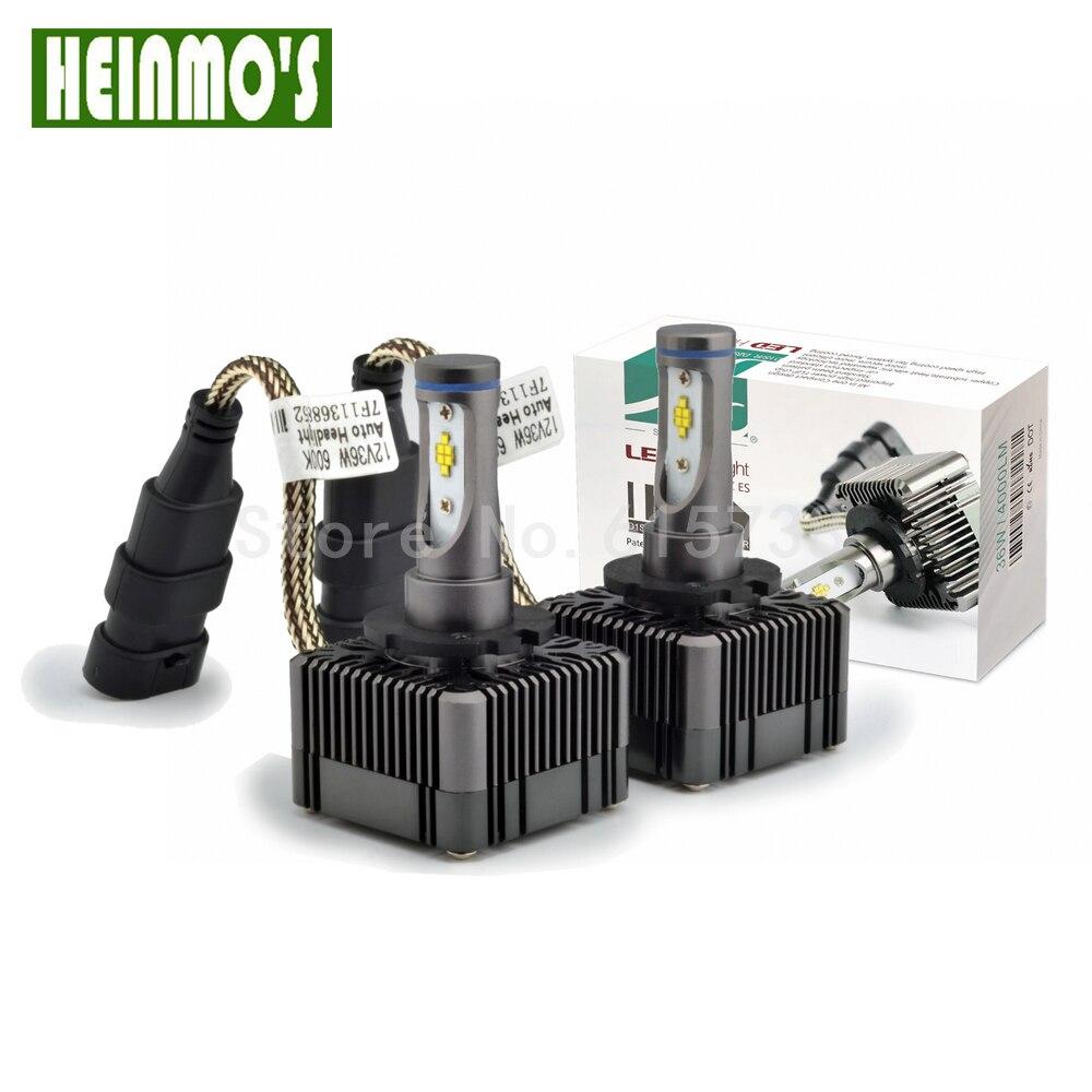 CE ROHS voiture-style LED Phare D1R D3R D1S D3S D1 LED Remplacement Projecteur Ampoules Blanc 6000 K 36 W 12 V Titane