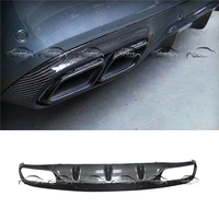 AMG Style Car Styling Real Carbon Fiber Rear Lip Bumper Spoiler Diffuser for Mercedes Benz W205 2 Door Sport Version C63