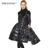 EMIR ROFFER 2017 new fashion winter włochy kobiet kurtka puchowa spódnica długi płaszcz kobiet białe kaczki dół parka femme big rozmiar