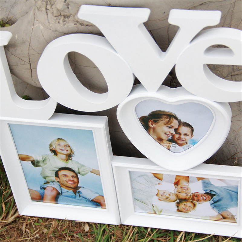 Love and Live Choose One Wooden Photo Frame White Base DIY Picture ...