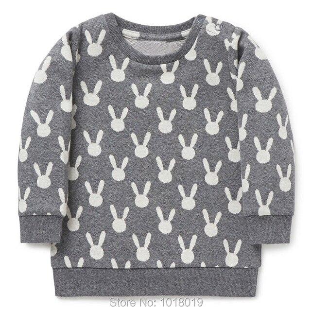 Качество 100% Терри Новый хлопковый свитер 2018 брендовая одежда для девочки ясельного возраста с длинными рукавами Костюмы Bebe Дети футболка Толстовки Обувь для девочек