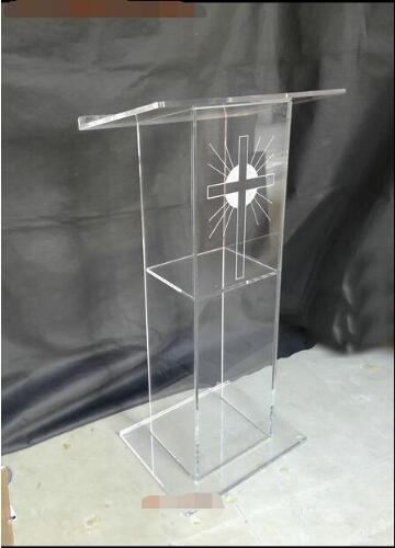 Custom Wholesale Church Lectern Free Shiping High Quality Modern Design Cheap Acrylic Lectern Acrylic Pulpit