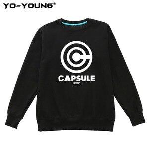 Image 2 - Yo Young Women Hoodies Sweatshirts Anime Dragon Balls Unisex Casual Capsule Corporation Print Streetwear Fleece Inside Quality