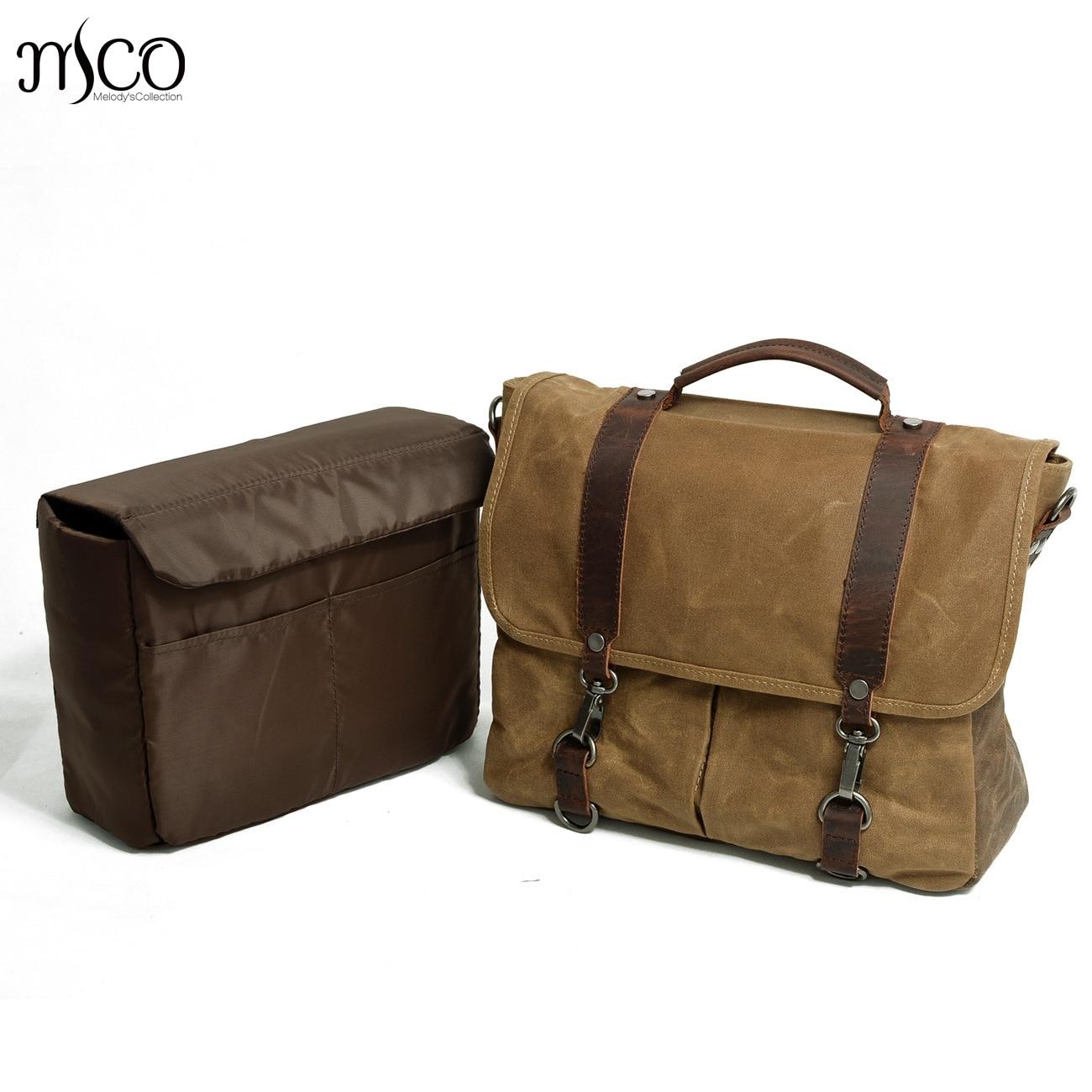 New Retro cloth waterproof Canvas Bag Charcoal Waxed Shoulder Portable <font><b>Photography</b></font> Camera Bag Messenger Bag