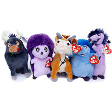 "Pyoopeo Ty Beanie Babies Plush 6"" 15cm Ferdinand Movie Set of 5 Lupe Goat Una Dos Cuatro Hedgehog Ferdinand Bull Stuffed Toy(China)"