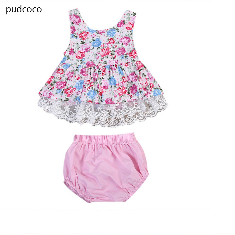 Summer Infant Baby Girl Sleeveless Floral Lace Patchwork Princess Dresses Shorts Sets Tutu Lace Dress+Bottom Clothes Outfits cupcake birthday outfits leopard baby romper dress headband shoes infant lace tutu set roupa bebe menina winter girl clothes