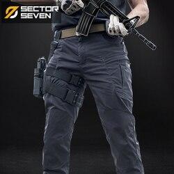 Sector Seven IX8 wodoodporna taktyczna gra wojenna Cargo spodnie męskie silm Casual spodnie męskie spodnie wojskowe wojskowe spodnie sportowe