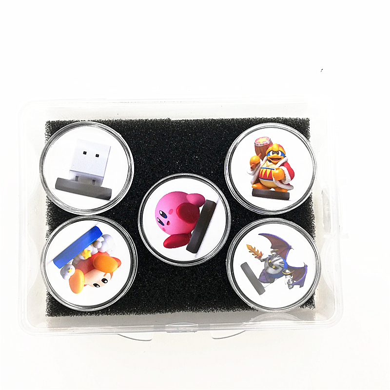2019 New Data Kirby Star Allies For Amiibo Game Card Collection NFC Tag Ntag215 Sticker Coin (Fast Shiping 5Pcs New)
