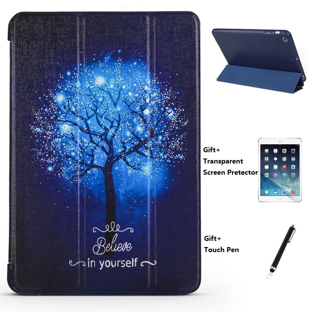 QUWIND синий дерево непрозрачные мягкий сон проснуться чехол для iPad Mini 1234 iPad 234 iPad 2017 2018 iPad воздуха 1 2 Pro 9,7 10,5 2019