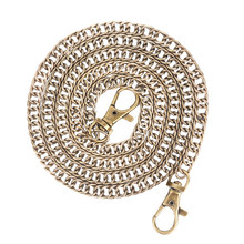 1PC 100cm Handbag Metal Chains For Bag DIY Purse Chain With Buckles Shoulder Bags Straps Handbag Handles Bag Parts & Accessories(China)