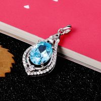 Turquoise Crystal Necklaces Pendants 100 925 Sterling Silver Jewerly 2015 Necklace Women Cheap Fashion Ebay Jewelry