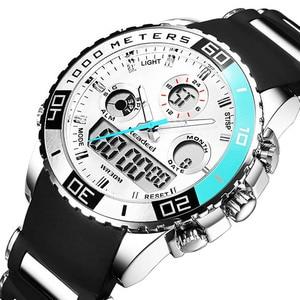 Image 4 - Men Sports Watches Waterproof Mens Military Digital Quartz Watch Alarm Stopwatch Dual Time Zones Brand New relogios masculinos